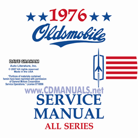1976 oldsmobile shop manual & body manual