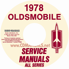1978 oldsmobile shop manual & body manual- all models