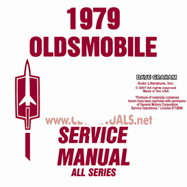 1979 oldsmobile shop manual & body manual- all models