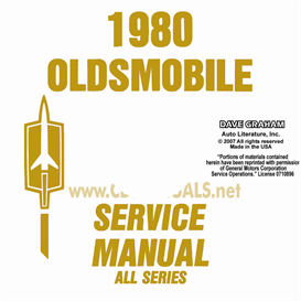 1980 oldsmobile shop manual& body manual- all models