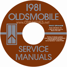 1981 oldsmobile shop manual& body manual- all models