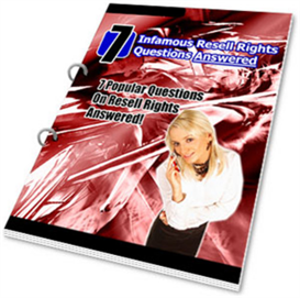 7 infamous resell rights questions answered - new - plr