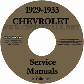 1929-1933 chevrolet repair manual set