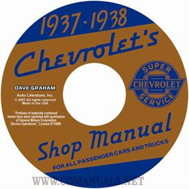 1937-1938 chevrolet shop manuals - all cars & trucks