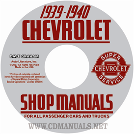 1939-1940 chevrolet shop manuals for car & truck