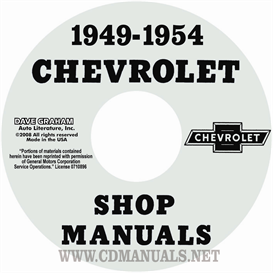1949-1954 chevrolet shop manual