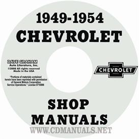1949-1954 chevrolet shop manual