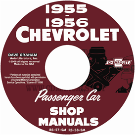 1955-1956 chevy shop manuals