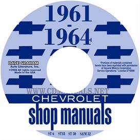 1961-1964 chevrolet car shop manuals