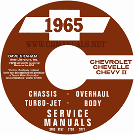 1965 Chevy Shop, Body, Overhaul, And Turbojet Manuals - All Mode | eBooks | Automotive