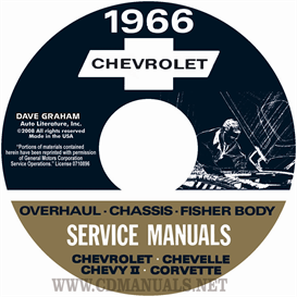 1966 Chevy Shop, Overhaul, & Body Manuals- All Models | eBooks | Automotive