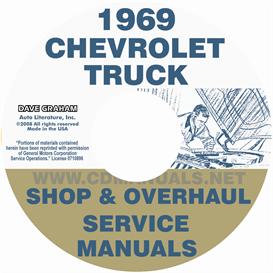 1969 chevrolet pickup & truck shop manual & overhaul manual