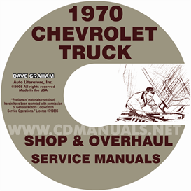 1970 chevy shop, overhaul, & body manuals- all models