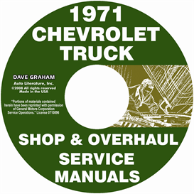 1971 chevy pickup & truck shop manual & overhaul manual