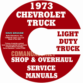 1973 chevy pickup and truck shop manual & overhaul manual