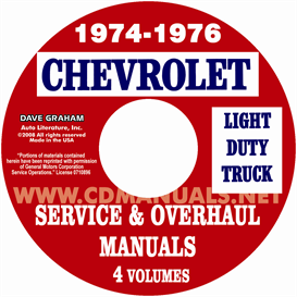 1974-1976 chevrolet pickup, blazer, van, & suburban shop manual