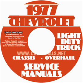 1977 chevrolet pickup, blazer, van, & suburban shop manual
