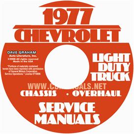 1978 chevrolet pickup, blazer, van, & suburban shop manual