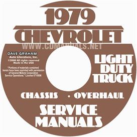 1979 chevrolet pickup, blazer, van, & suburban shop manual