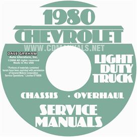 1980 chevrolet pickup blazer van and suburban shop manual