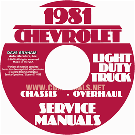 1981 chevrolet pickup blazer van and suburban shop manual