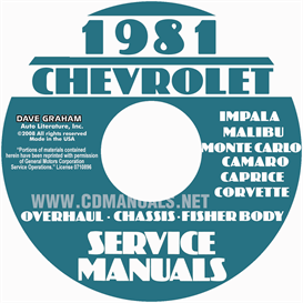 1981 chevy service manuals shop, overhaul, and body manuals