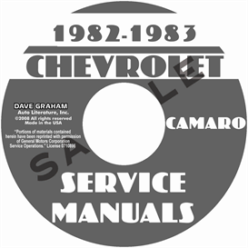 1982-1983 chevy camaro shop manuals