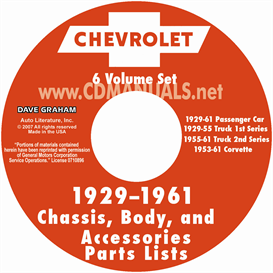 1929-1961 chevrolet illustrated parts book
