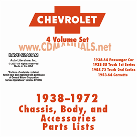 1938-1972 chevrolet illustrated parts book