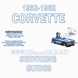 1953-1962 corvette servicing guide/repair manual