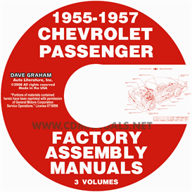 1955-1957 chevrolet factory assembly manuals