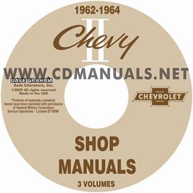 1962-1964 nova shop manuals