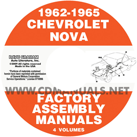 1962-1965 chevy ii nova factory assembly manuals