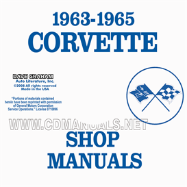 1963-1965 corvette shop manuals