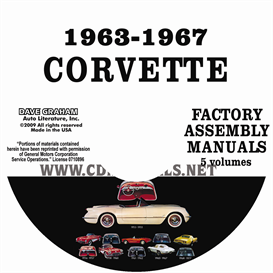 1963-1967 chevrolet corvette factory assembly manuals