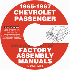 1965-1967 chevrolet car factory assembly manuals