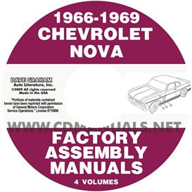 1966-1969 chevy ii nova assembly manuals