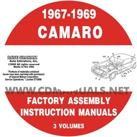 1967-1969 camaro factory assembly manuals