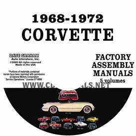 1968-1972 chevrolet corvette factory assembly manuals