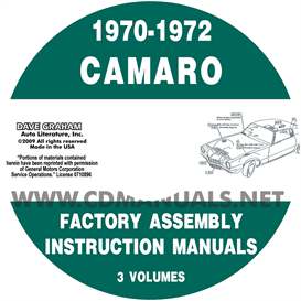 1970-1972 camaro factory assembly manual
