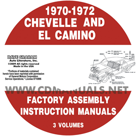 1970-1972 chevelle factory assembly manual with el camino, monte