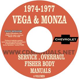 1974-1977 vega & monza shop manuals
