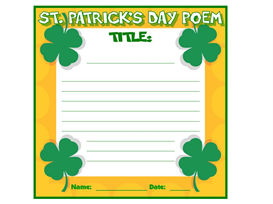 st. patrick's day poetry set
