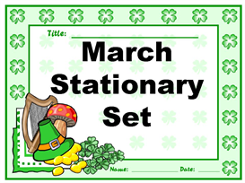 march stationery set