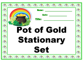 finding a pot of gold stationery set