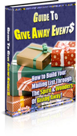 guide to give away events - new ebook with plr