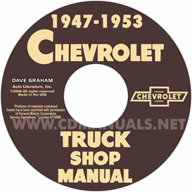 1948-1953 chevy pickup and truck shop manual