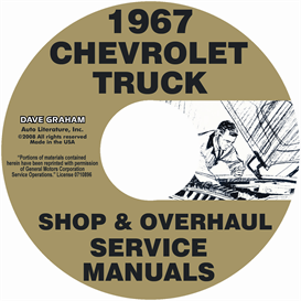 1967 chevy 10-60 pickup & truck shop manual & overhaul manual