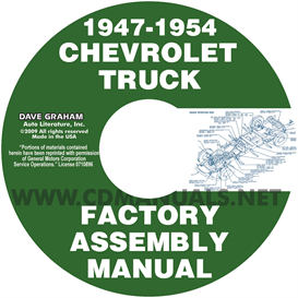 1947-1954 chevrolet pickup truck assembly manual