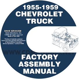 1955-1959 chevrolet pickup truck factory assembly manual